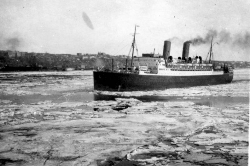 The Canadian Pacific Liner Empress Of Canada Was Destroyed By Fire In The Gladstone Dock At