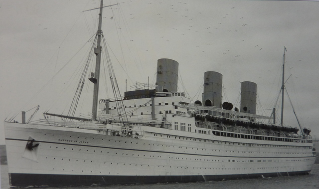 The Canadian Pacific liner EMPRESS OF SCOTLAND (ex EMPRESS